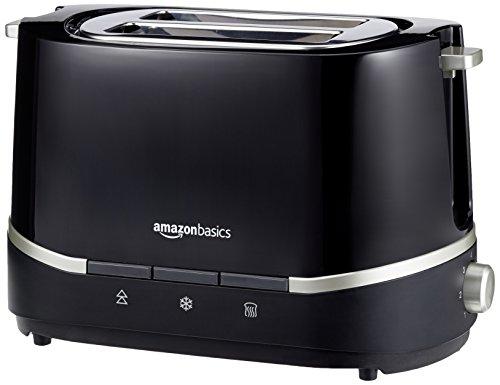 AmazonBasics Doppelschlitz-Toaster, Leistung: 800 W, Schwarz