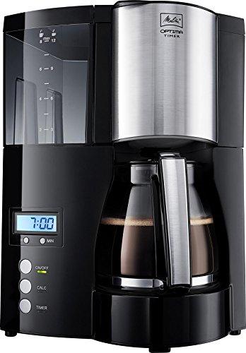 schwarz/Edelstahl – Melitta 100801 Optima Timer Kaffeefiltermaschine