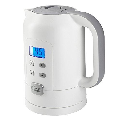 Russell Hobbs Precision Control 21150 -70 Wasserkocher Warmhaltefunktion, Elektronische Temperatureinstellung mit LCD-Anzeige, weiß