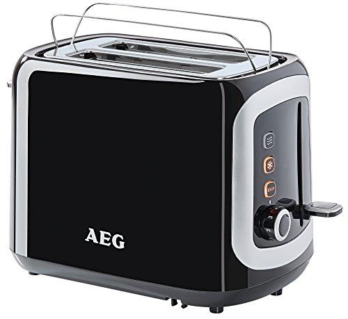 AEG AT3300 Doppelschlitz-Toaster 940 Watt, inkl. Staubschutz-Deckel schwarz