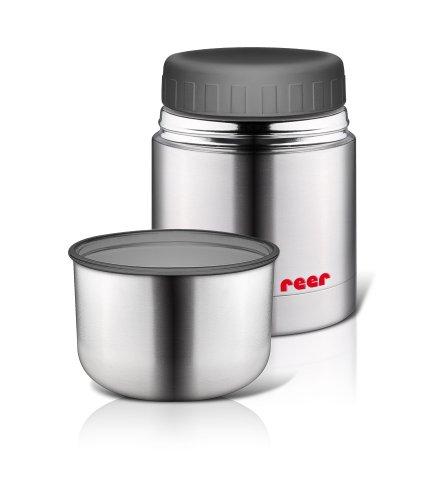 reer 90430 – Edelstahl -Warmhaltebox für Nahrung mit Becher, 350ml