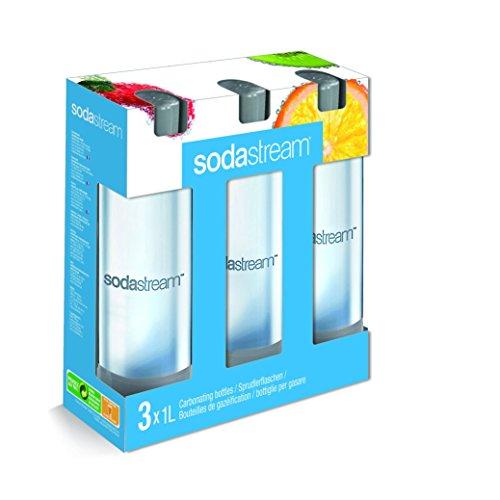 SodaStream 3 x 1L PET-Flasche, farblich sortiert Farbe nicht frei wählbar