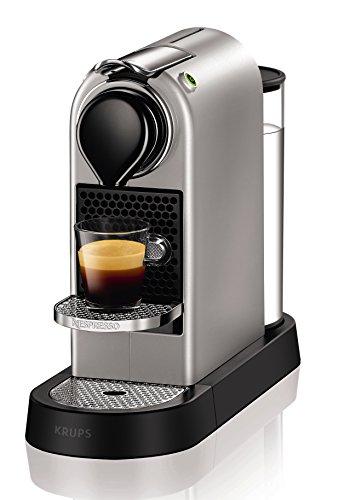 Krups Nespresso XN740B Kapselmaschine New CitiZ, Thermoblock-Heizsystem, 1 L Wasserbehälter, 19 bar, silber