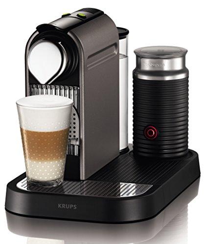 Krups XN 730T Kapselmaschine Nespresso New CitiZ&milk 1 L Wasserbehälter, mit Aeroccino3 titanium