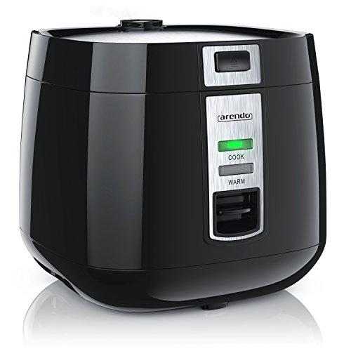 Arendo – Reiskocher | Dampfgarer / Dampfgarerfunktion | 1,4l Kapazität | Überhitzungsschutz + Thermosicherung | automatische Warmhaltefunktion | 540W | wärmeisolierendes Doppelwanddesign