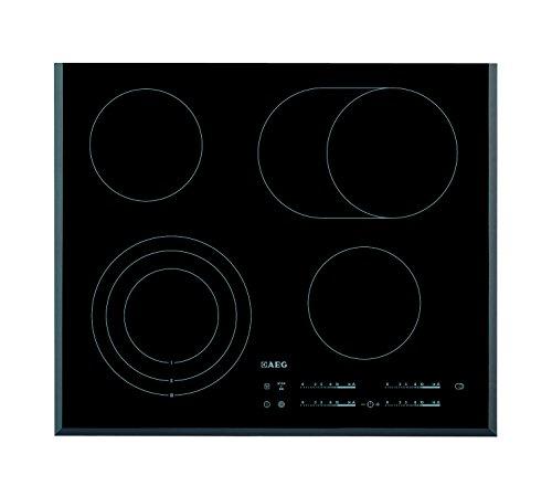 AEG HK 654070 F-B Kochfeld Elektro, Glaskeramik, 62 cm, edelstahl / Bräterzone / Restwärmeübersicht