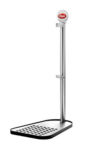 Clauss CL-60000 00 Bierfasshalter für Standard 5 L Fässer, Edelstahl, Fuß Stahl schwarz lackiert