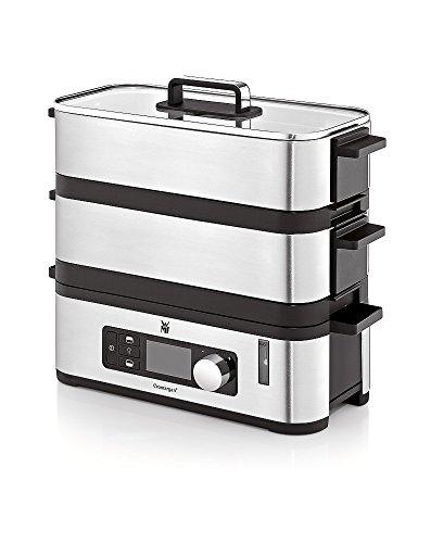 WMF KÜCHENminis Dampfgarer, BPA-frei, 2 Garräume mit 2,15 l,  inkl. Schale, Warmhaltefunktion, cromargan matt/silber
