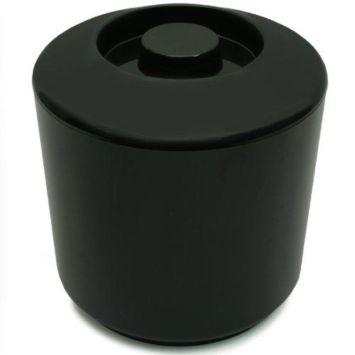 Eiswürfelbehälter 4 Liter Kühler Runde Eiskübel Eiseimer – Schwarz