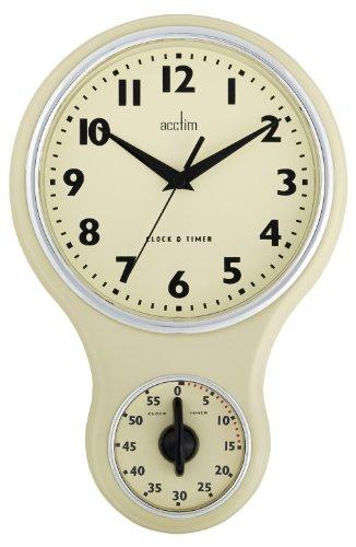 Acctim 21592 Kitchen Time Wanduhr, Cremefarben