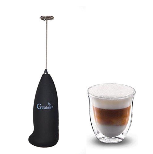 Batteriebetriebener Milchaufschäumer mit Edelstahlfeder für Cremigster MilchschaumCappuccino, Caffe Latte, Latte Macchiato, Getränke und Cocktails und verschiedenen Saucen