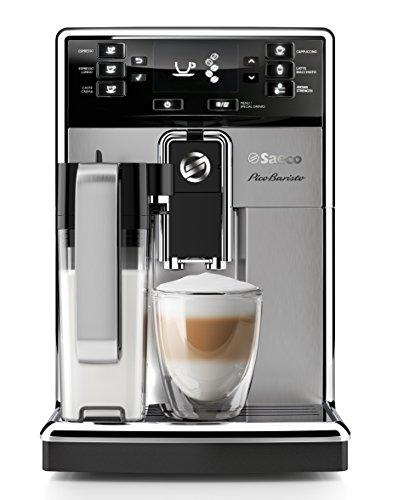 Saeco HD8927/01 PicoBaristo Kaffeevollautomat 1450 Watt, integriertes Milchsystem edelstahl