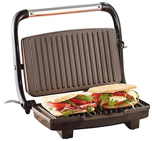 Rosenstein & Söhne Sandwichmaker: Panini-, Sandwich- & Kontaktgrill CG-2510, 1.000 W Sandwichgrill