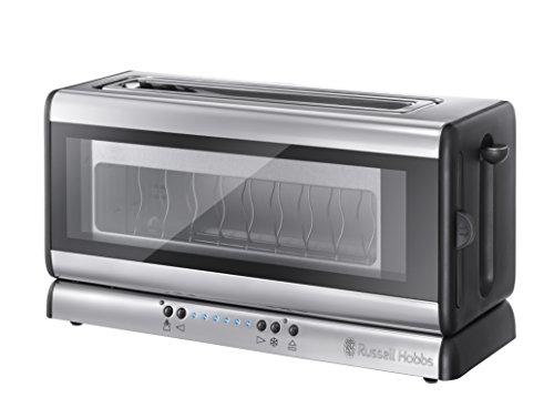 Russell Hobbs 21310-56 Clarity Glas Toaster, Even-Toast-System, Herausnehmbare Glasscheibe, extra breiter Toastschlitz