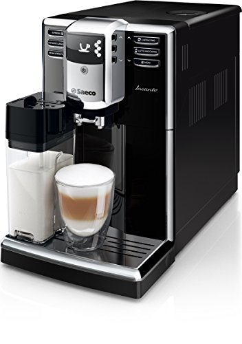 Saeco HD8916/01 Incanto Kaffeevollautomat AquaClean, integriertes Milchsystem, 1,8 L, 1850 W schwarz