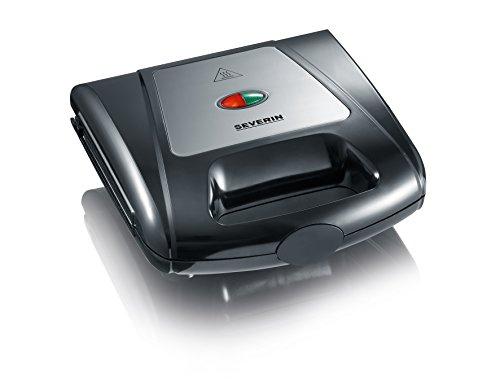 Severin SA 2968 Multi-Sandwich-Toaster mit Grillplatten, Edelstahl-gebürstet-schwarz