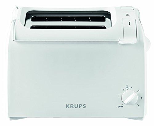 Krups KH1511 Toaster Aroma mit 6 Bräungssufen und 2 Toastschlitze, weiß
