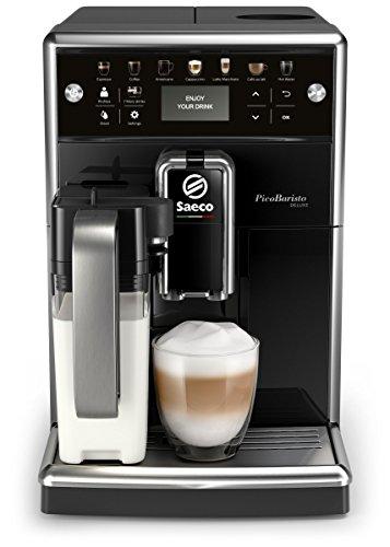 Saeco SM5570/10 PicoBaristo Deluxe Kaffeevollautomat LED Display, integriertes Milchsystem schwarz