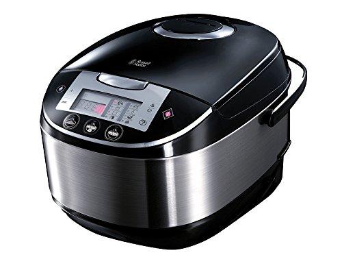 Russell Hobbs 21850-56 Multicooker Cook@Home, 11 Kochprogrammen, Kochzubehör, Anti-Kondensations-Deckel, 5.0l, 900 Watt, Edelstahl/schwarz