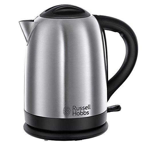 Russell Hobbs Oxford 20090-70 Wasserkocher mit Schnellkochfunktion 2,4 kW silber/schwarz