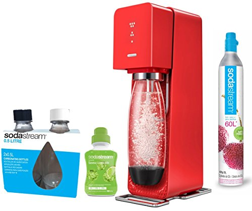 SodaStream Source New Wassersprudler, rot, 30×14.5×44 cm