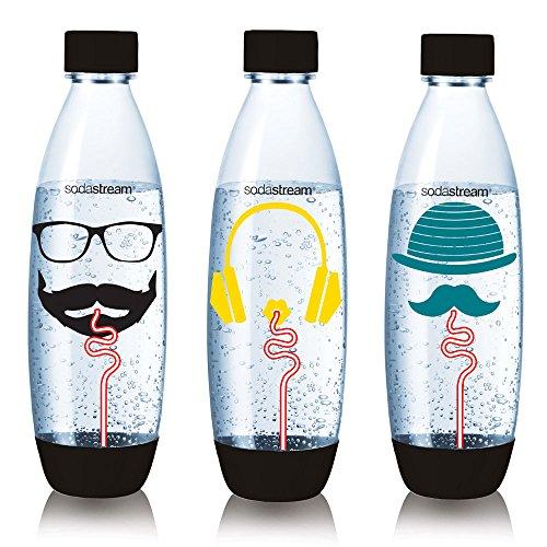 SodaStream 3000143 3er-PackKunststoff-Flaschen, groß, Blau 26,5x 9x 26cm
