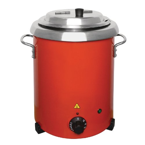 Buffalo rot Suppe Wasserkocher mit Griffen 5.7ltr/348x 255mm Edelstahl elektrische