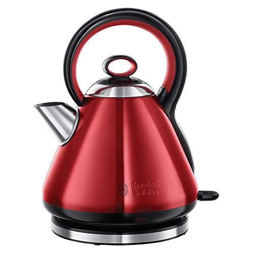 Russell Hobbs 21885-70 Wasserkocher Legacy, 2400 Watt, 1.7l, Quiet-Boil-Technologie, energiesparend, rot/schwarz