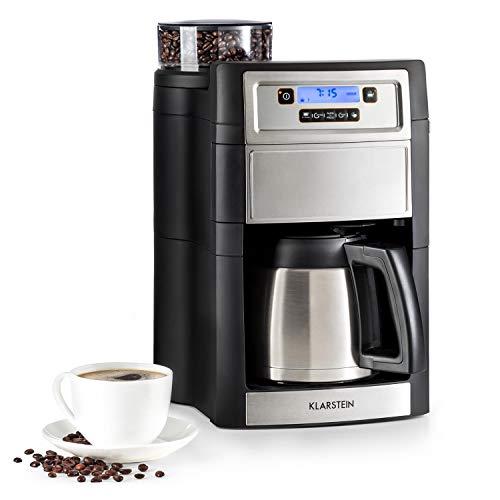 klarstein aromatica ii kaffeemaschine mit mahlwerk filter kaffeemaschine 1000 watt. Black Bedroom Furniture Sets. Home Design Ideas