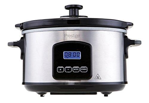 Prestige PRE-46877 Digital Slow Cooker, 3.5 Liter Silver