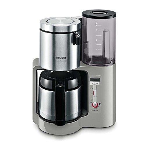 Siemens TC86505 Kaffeemaschine 1100 Watt max, 8/12 Tassen, Edelstahl Thermokanne urban grau