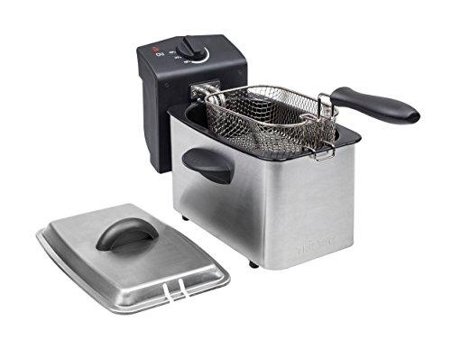 mit 2 Liter Fassungsvermögen, Kaltzonefunktion und einstellbarem Thermostat bis 190°C, FR-6919 – Tristar Edelstahl Fritteuse