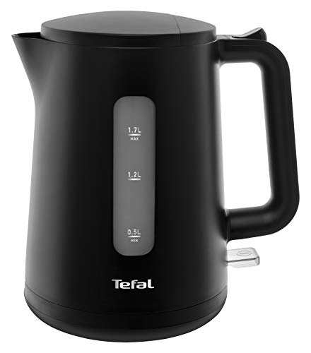 Tefal KO2008 Element Black Wasserkocher 2400 Watt, 1,7 l Wassertank schwarz