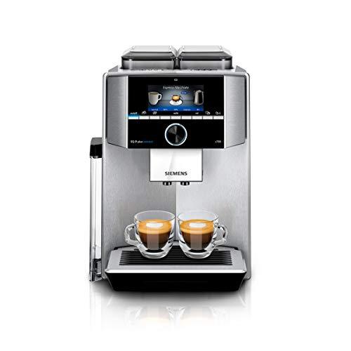Siemens TI9575X1DE EQ.9 s700 plus connect Kaffeevollautomat 1500 Watt, vollautomatische Dampfreinigung, Baristamodus, Home Connect, sehr leise, iAroma edelstahl