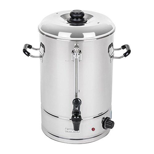 Royal Catering – Wasserkocher Heißwasserspender 10 Liter, 2.000 W, ca. 62 Tassen, 30 x 33 x 42 cm, 100 °C, Füllstandanzeige, Edelstahl Silber