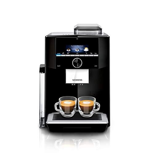 Siemens TI923509DE EQ.9 s300 Kaffeevollautomat 1500 Watt, maximales Aroma, vollautomatische Dampfreinigung, Speicherfunktion, sehr leise, iAroma schwarz