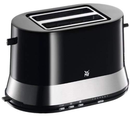 WMF WMF3 Edition Toaster Doppelschlitz Bräunungsstufen 800 W Schwarz mit Krümelschublade, Edelstahl, 20