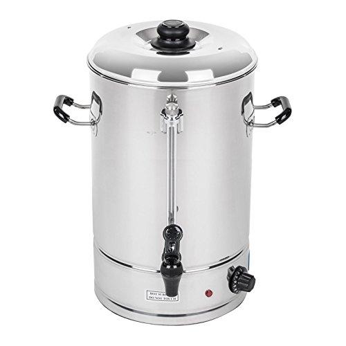 Royal Catering – Wasserkocher Heißwasserspender 40 Liter, ca. 223 Tassen, 42 x 46 x 54 cm, 3.000 W, 100 °C, Edelstahl Silber