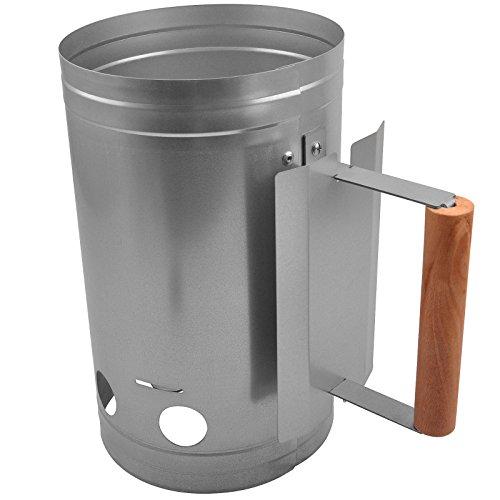 BBQ Grill Kohlestarter   Verzinktem Stahl Körper und Hitzebeständigem Stabiler Griff   Kohle-Anzünder, Holzkohle, Anzündkamin, Grill Anzünder