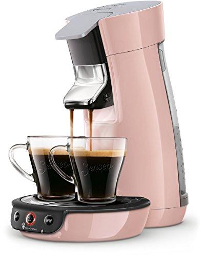 Philips Senseo Viva Café HD6563/30 Kaffeepadmaschine Crema plus, Kaffee-Stärkeeinstellung rosa