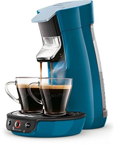 Philips Senseo Viva Cafe HD6563/70 Kaffeepadmaschine Crema plus, Kaffee-Stärkeeinstellung blau