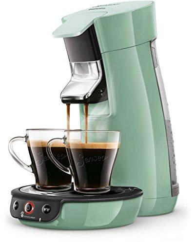 Philips Senseo  Viva Café HD6563/10 Kaffeepadmaschine Crema plus, Kaffee-Stärkeeinstellung grün