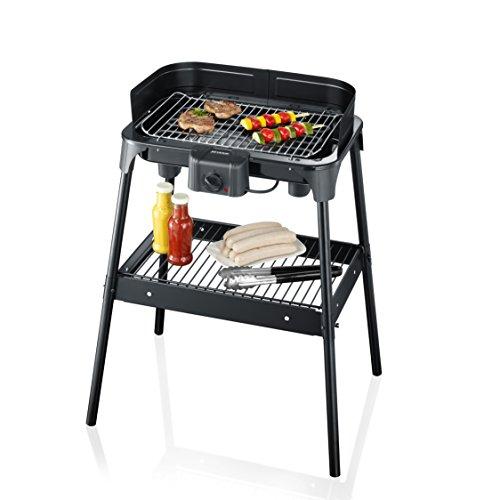 SEVERIN PG 2792 Barbecue-Grill 2.500W, Standgrill, Grillfläche 41 x 26cm schwarz