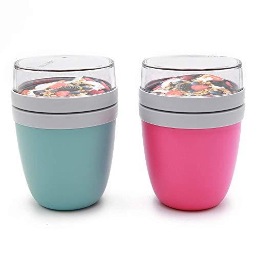 Mepal Lunchpot 2-er Set Ellipse nordic green und pink Lunchbox
