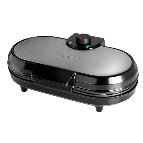 10 Herzwaffelfromen pro Durchgang – mit einstellbarem Thermostat, WF-2120 – Tristar Doppel-Waffeleisen Edelstahl