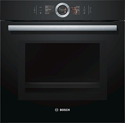 Bosch HNG6764B6 Serie 8 Backofen Elektro / A / 67 L / Vulkan Schwarz / Pyrolyse-Selbstreinigung / Mikrowellenfunktion / PerfectRoast & PerfectBake