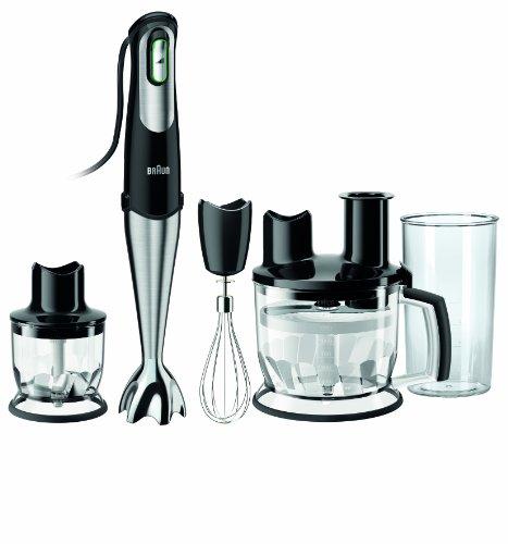 Braun MultiQuick 7 MQ 785 Ptisserie Plus Stabmixer 750 W, Küchenmaschinen-Aufsatz 1.500 ml,Edelstahl-Schneebesen, EasyClick System, PowerBell Technologie
