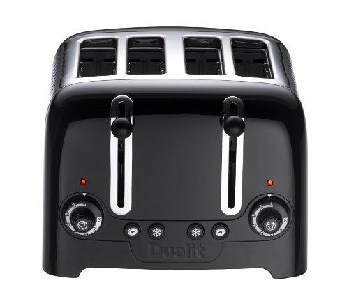 Dualit 46205 4 Slot Lite Toaster in Black Finish