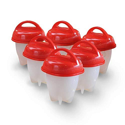 AS SEEN ON TV: Eierkocher Hard & Soft Maker, BPA-frei, antihaftbeschichtetes Silikon, keine Schale, Silikon Eier Maker ohne die Shell 6Pack