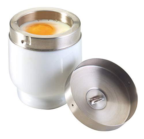 Kitchen Craft Eierkocher, aus Porzellan, mit Edelstahldeckel